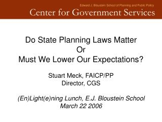 Edward J. Bloustein School of Planning and Public Policy