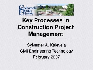 Key Processes in Construction Project Management