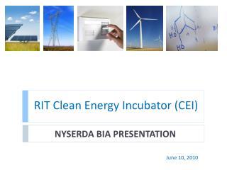 RIT Clean Energy Incubator (CEI)