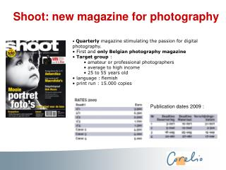 Shoot: new magazine for photography