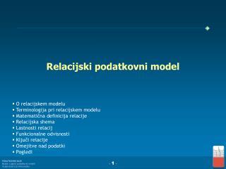 Relacijski podatkovni model