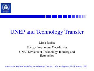 UNEP and Technology Transfer