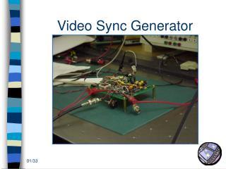 Video Sync Generator