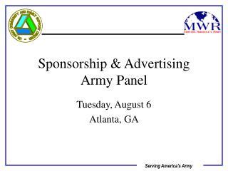 Sponsorship & Advertising Army Panel