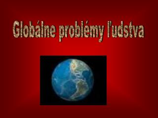 Globálne problémy ľudstva