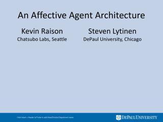 An Affective Agent Architecture