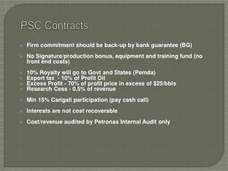 PSC Contracts