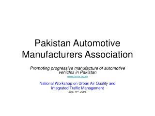 Pakistan Automotive Manufacturers Association