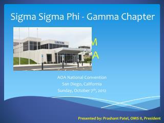 Sigma  Sigma  Phi - Gamma Chapter