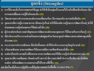 จุดแข็ง ( Strengths )