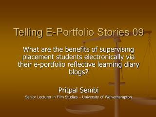 Telling E-Portfolio Stories 09