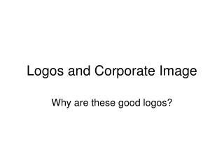 Logos and Corporate Image