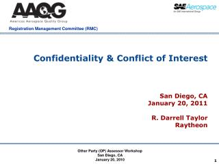 Confidentiality & Conflict of Interest