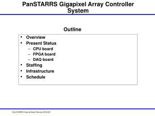 PanSTARRS Gigapixel Array Controller System