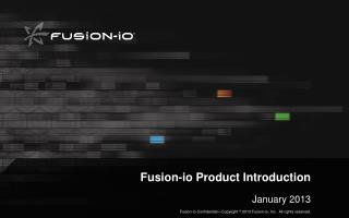 Fusion-io Product Introduction