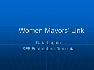 Women Mayors  Link
