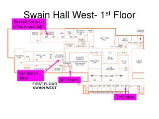 Swain Hall West- 1 st  Floor
