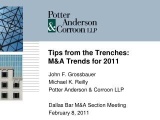 Tips from the Trenches:  MA Trends for 2011