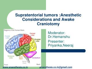 Supratentorial tumors :Anesthetic Considerations and Awake Craniotomy