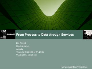 From Process to Data through Services
