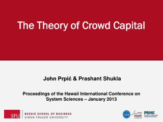The Theory of Crowd Capital