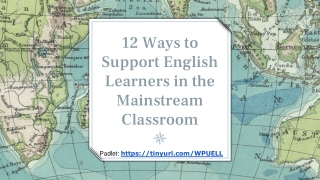 LANGUAGE Does your classroom