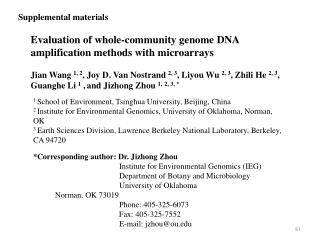 Evaluation of whole-community genome DNA amplification methods with microarrays
