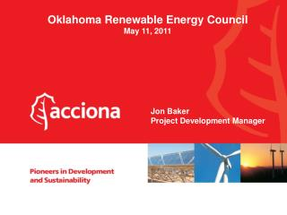 Oklahoma Renewable Energy Council May 11, 2011