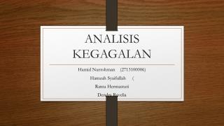 ANALISIS KEGAGALAN