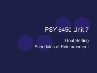 PSY 6450 Unit 7