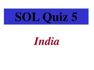 SOL Quiz 5