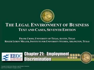 Chapter 21:   Employment Discrimination