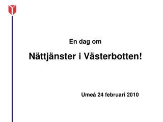 Umeå 24 februari 2010