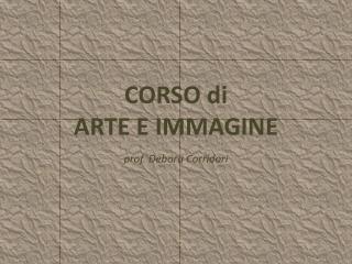 CORSO di ARTE E IMMAGINE