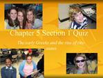Chapter 5 Section 1 Quiz