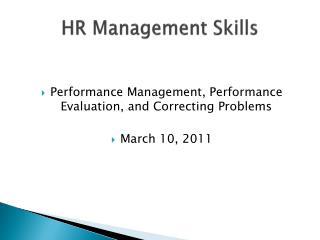 HR Management Skills
