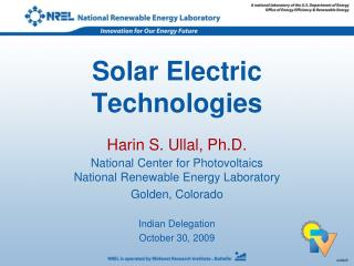 Solar Electric Technologies