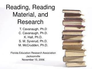 Reading, Reading Material, and Research