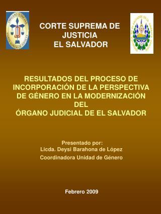 CORTE SUPREMA DE JUSTICIA   EL SALVADOR