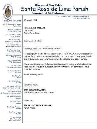 CITY OF SANTA ROSA, LAGUNA, 4026 PHILIPPINES TEL. NO.: (049) 534-1920
