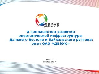 О комплексном развитии  энергетической инфраструктуры  Дальнего Востока и Байкальского региона: