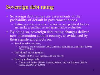 Sovereign debt rating