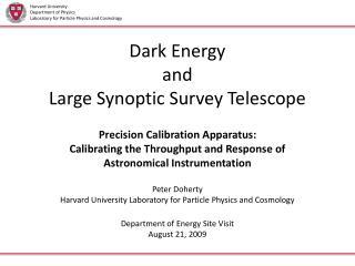 Dark Energy and Large Synoptic Survey Telescope