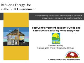 Reducing Energy Use in the Built Environment