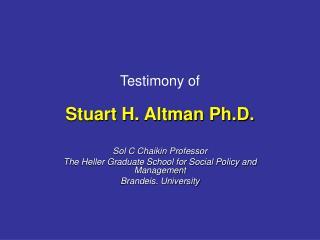 Testimony of