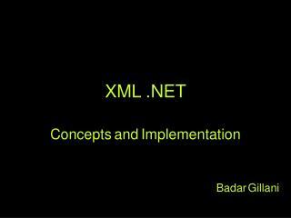 XML  . NET