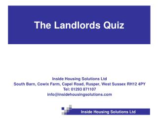 The Landlords Quiz