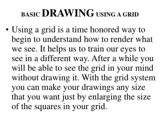 BASIC DRAWING USING A GRID