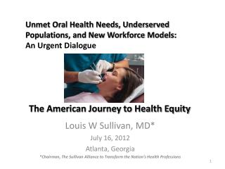 The American Journey to Health Equity