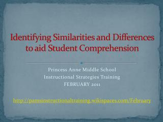 Identifying Similarities and Differences to aid Student Comprehension
